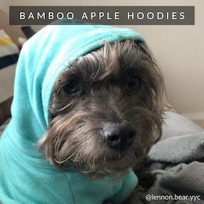 Eco-Pup Dog apple hoodies bamboo sweaters